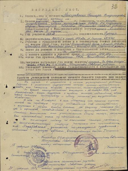 Макаровская Тамара Владимировна