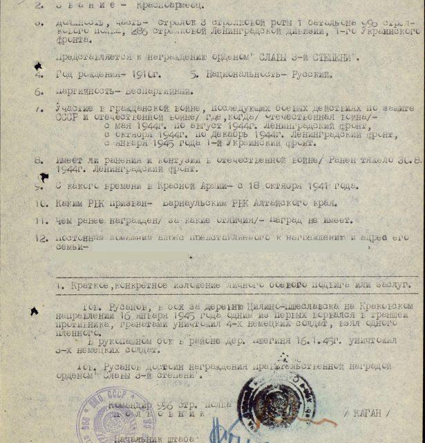 Русанов Георгий Родионович