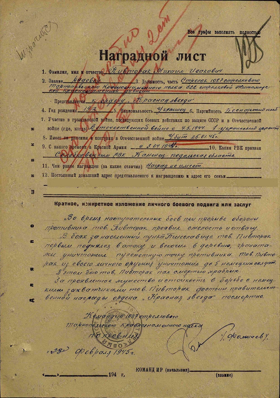Пивторак Михаил Исаакович (Исакович)