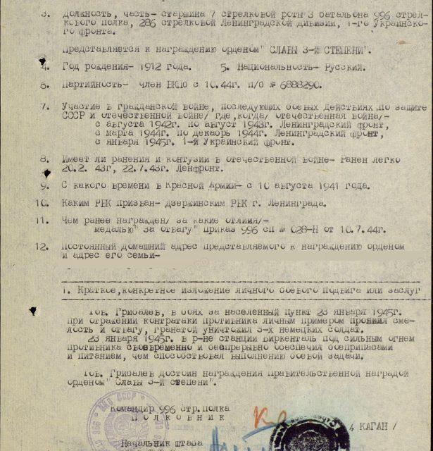 Грибалев Семён Николаевич